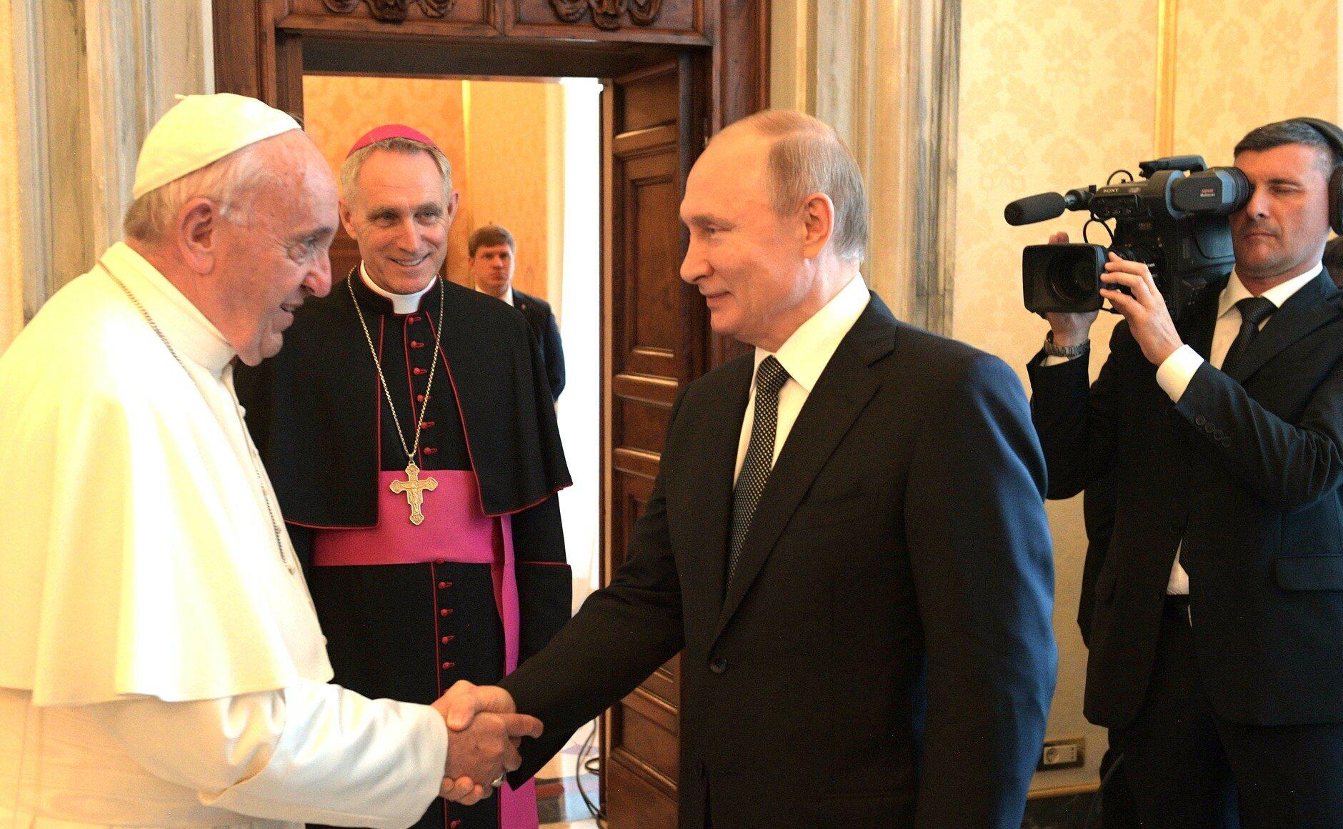 Spotkanie papieża z prezydentem Rosji