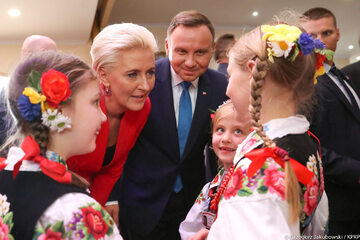 Spotkanie Prezydenta RP i Małżonki z Polonią