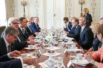 Spotkanie Prezydenta z Sekretarzem Generalnym NATO