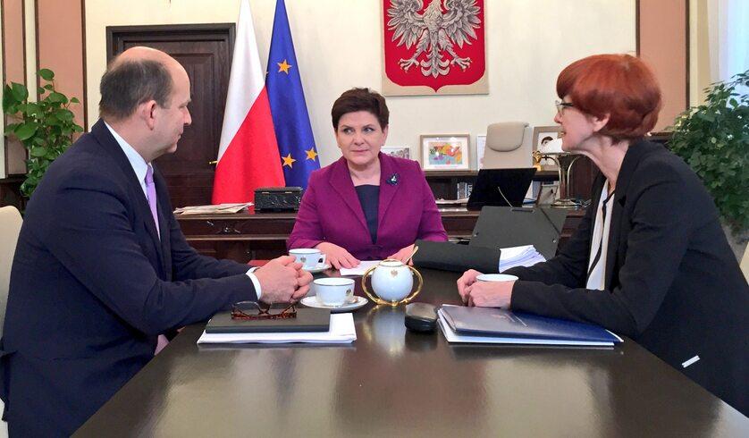 Spotkanie Szydło z Radziwiłłem i Rafalską