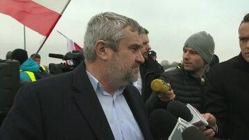 Sprzeczka między protestującymi rolnikami a ministrem rolnictwa