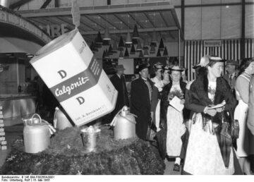 Sprzedaż produktów Calgonit, 1955 rok