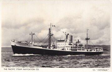 SS Cotopaxi na pocztówce