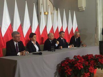 Stanisław Karczewski, Beata Szydło, Jarosław Kaczyński, Marek Kuchciński, Ryszard Terlecki