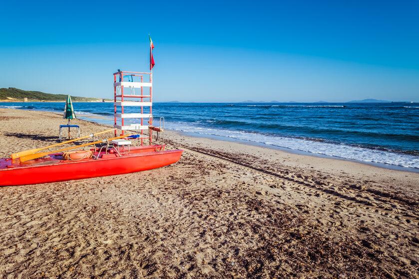 Stanowisko ratownika na plaży