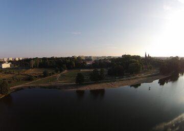 Stawy Jana w Łodzi. Widok z lotu ptaka