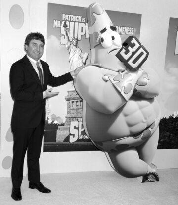 """Stephen Hillenburg i Patrick z kreskówki """"SpongeBob Squarepants"""""""