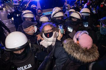 Strajk Kobiet na ulicach Warszawy