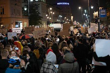 Strajk Kobiet w Warszawie, manifestacja 28 października