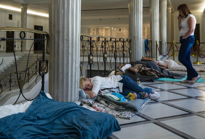 Strajk okupacyjny opiekunów osób niepełnosprawnych w Sejmie