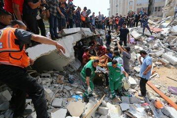 Strefa Gazy po ataku rakietowym