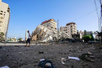 Strefa Gazy. Pozostałości po zniszczonym budynku