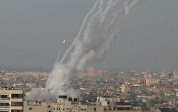 Strefa Gazy. Rakiety wystrzeliwane w stronę Izraela (zdjęcie z 10 maja)