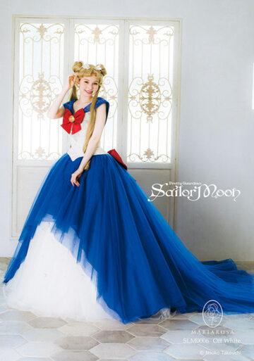 """Suknie ślubne projektu firmy Mariarosa, inspirowane serią """"Czarodziejka z Księżyca"""""""