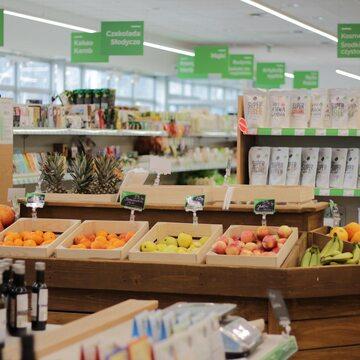 Supermarket Bio Family z ekologiczną żywnością