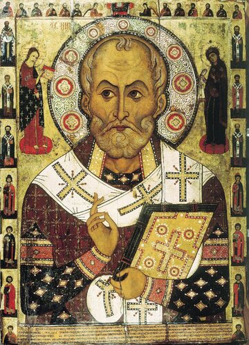 Św. Mikołaj z Miry na rosyjskiej ikonie z XIII w.