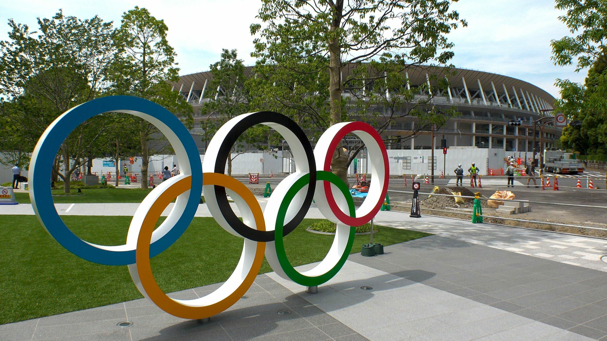 Symbol olimpijski w Tokio.