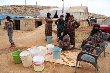 Syryjki w obozie dla uchodźców
