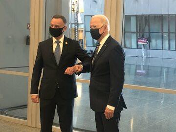 Szczyt NATO, spotkanie Andrzeja Dudy i Joe Bidena