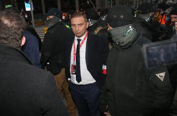 Szef Straży Narodowej Robert Bąkiewicz podczas Marszu Niepodległości 2020