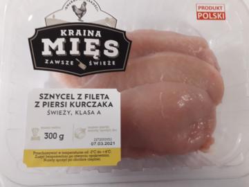 Sznycel z fileta z piersi kurczaka
