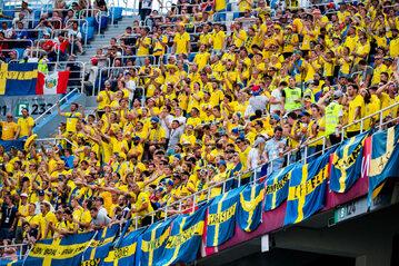 Szwedzcy kibice w Niżnym Nowogrodzie