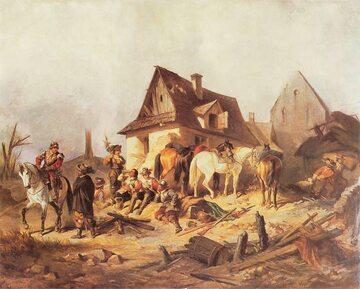 """""""Szwedzi w Polsce"""", obraz Henryka Pillatiego"""
