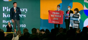 Szymon Hołownia i aktywiści Greenpeace