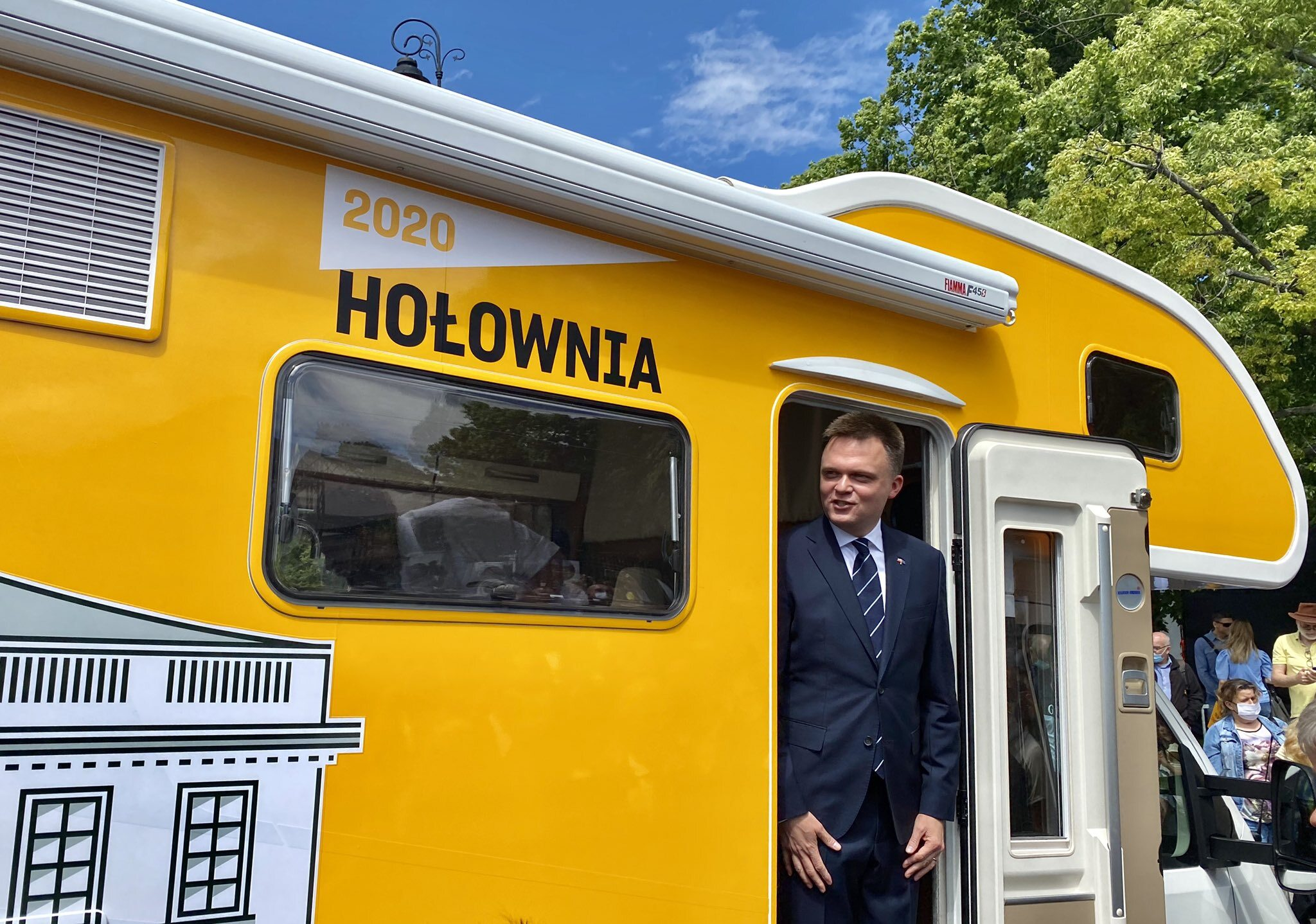 """Szymon Hołownia w """"Belwederze na kółkach"""""""