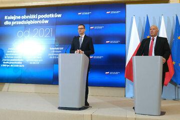 Tadeusz Kościński i Mateusz Morawiecki