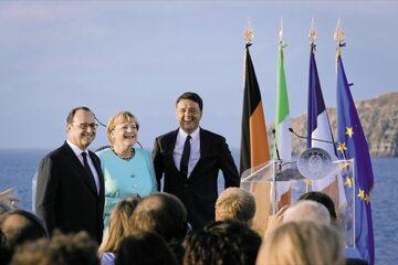 Tak jest – przywódcy Europy 22 sierpnia na pokładzie lotniskowca Garibaldi