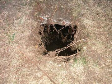 Tak wygląda miejsce, w którym zapadła się ziemia