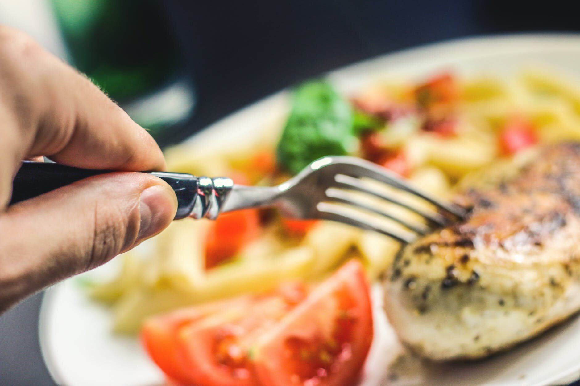 Talerz z jedzeniem