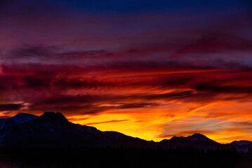 Tatry, zachód słońca