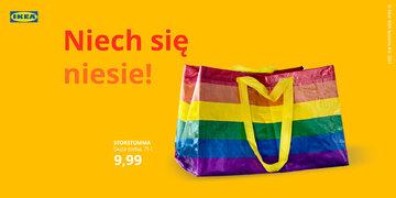 Tęczowa torba IKEA