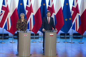 Theresa May i Mateusz Morawiecki w Warszawie