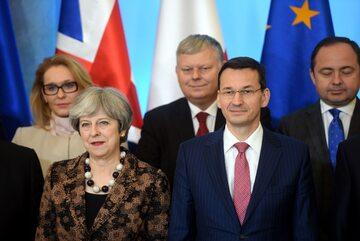 Theresa May i Mateusz Morawiecki