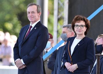 Tomasz Grodzki i Elżbieta Witek