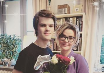 Tomasz Malcolm z mamą – Moniką Richardson
