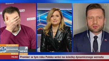 """Tomasz Trela, Agnieszka Gozdyra i Kamil Bortniczuk w """"Debacie dnia"""""""