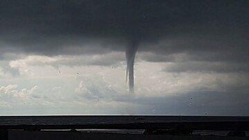 Tornado przy brzegu Soczi