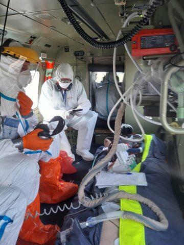 Transport pacjenta z mobilnym ECMO śmigłowcem LPR przez zespół CSK MSWiA
