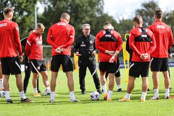 Trening Polaków przed meczem z Bośnią i Hercegowiną