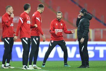 Trening Polaków przed meczem z Holandią