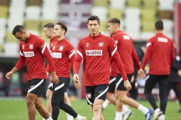 Trening Polaków przed meczem z Włochami