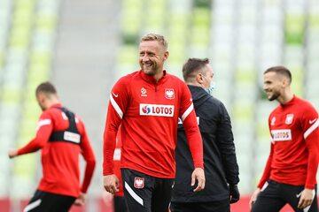 Trening polskiej kadry przed meczem z Finlandią