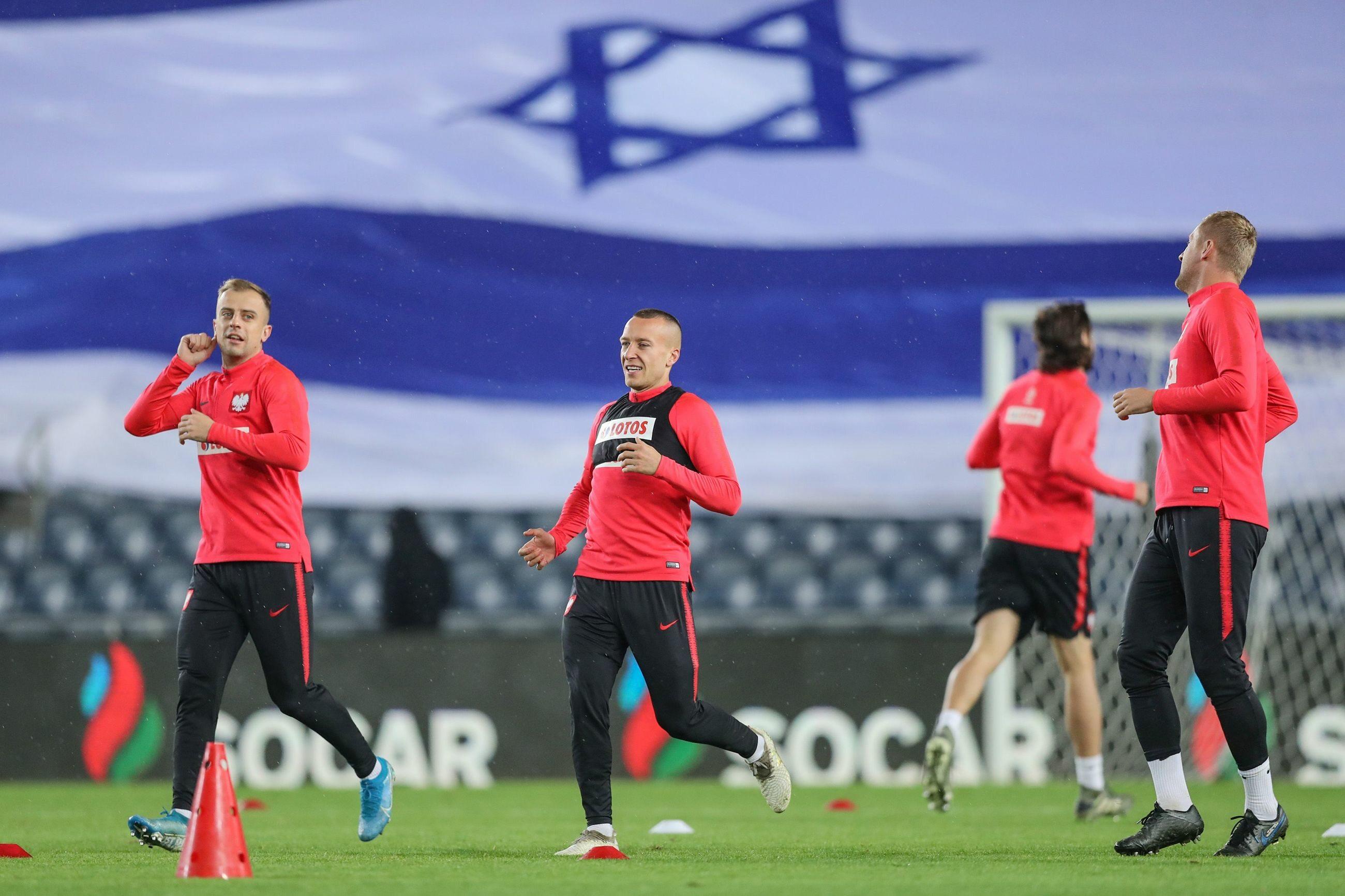 Trening przed meczem Polska - Izrael