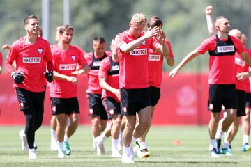 Trening reprezentacji Polski 14 czerwca