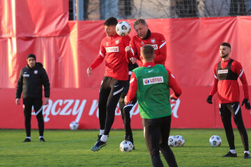 Trening reprezentacji Polski, 22 marca