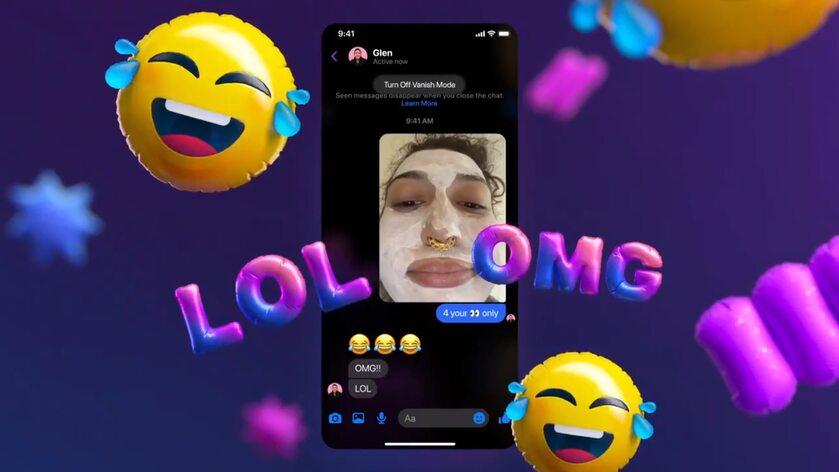 Tryb znikających wiadomości na Messengerze